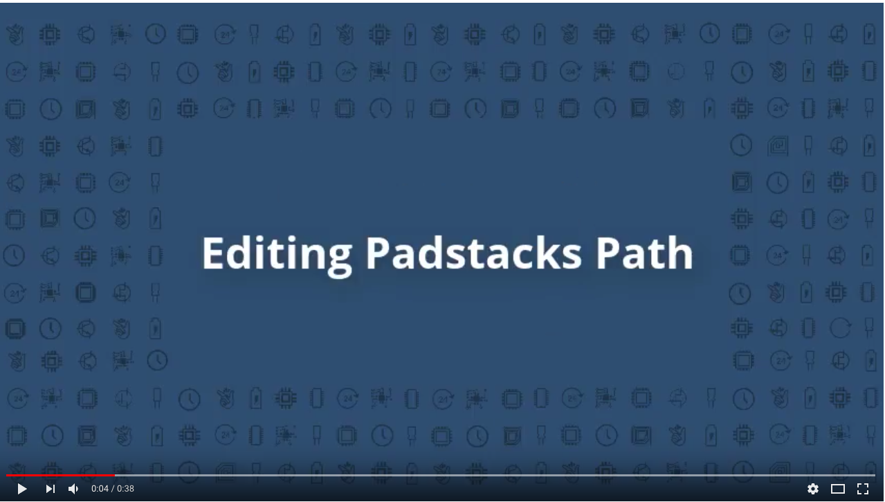 How to edit Padstacks path